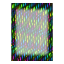 Glass Gem Green Blue Mosaic Abstract Artwork Card