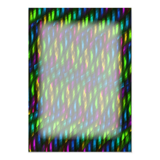Glass Gem Green Blue Mosaic Abstract Artwork Card