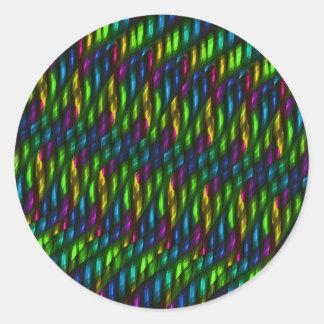 Glass Gem Green Blue Mosaic Abstract Artwork Classic Round Sticker