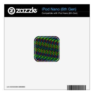 Glass Gem Green Blue Mosaic Abstract Artwork iPod Nano 6G Decals