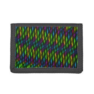 Glass Gem Green Blue Mosaic Abstract Artwork Tri-fold Wallet