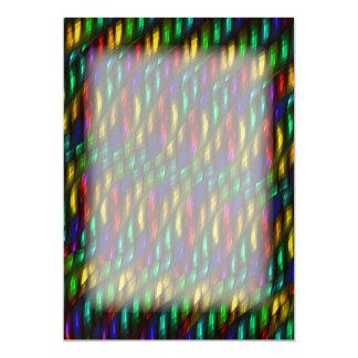Glass Gem Green Red Mosaic Abstract Artwork Card