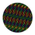 Glass Gem Green Red Mosaic Abstract Artwork Poker Chips Set