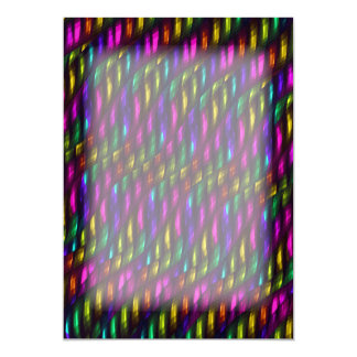 Glass Gem Pink Yellow Mosaic Abstract Artwork Card