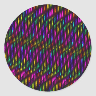 Glass Gem Pink Yellow Mosaic Abstract Artwork Classic Round Sticker