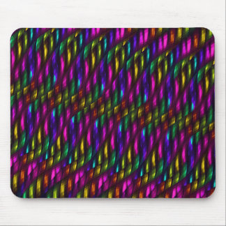 Glass Gem Pink Yellow Mosaic Abstract Artwork Mouse Pad