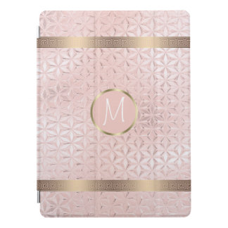 Glass Geometric Borders Monogram Rose Gold ID412 iPad Pro Cover