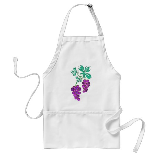 Glass Grapes Adult Apron