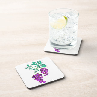 Glass Grapes Beverage Coaster