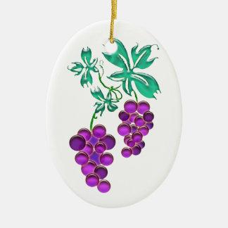 Glass Grapes Christmas Ornaments