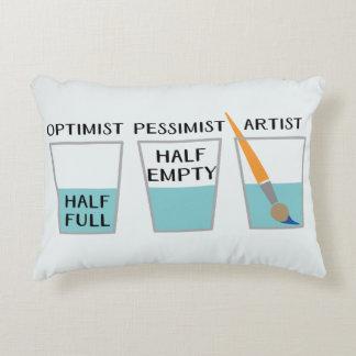 Glass Half Full Funny Meme Accent Pillow