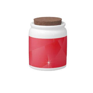 glass heart candy jar