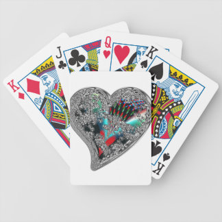 GLASS HEARTS & DRAGON TOE BICYCLE PLAYING CARDS