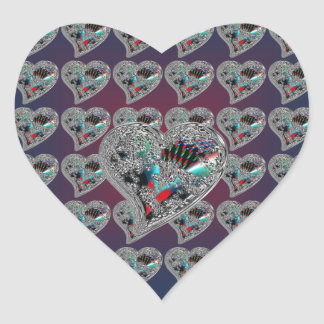 GLASS HEARTS & DRAGON TOE HEART STICKER