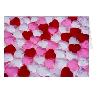 Glass hearts II Card