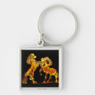 Glass Horses of Murano Italy Keychain