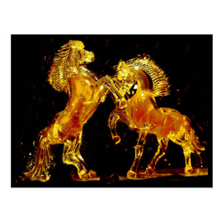 Glass Horses of Murano Italy Postcard