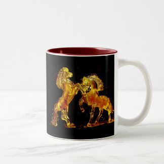 Glass Horses of Murano Italy Two-Tone Coffee Mug