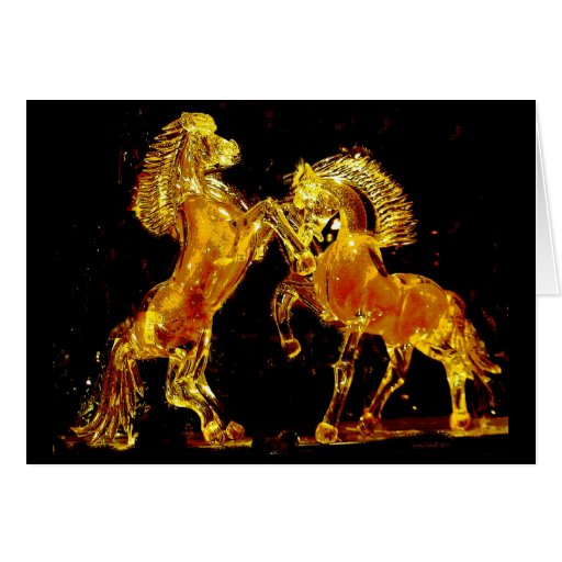Glass Horses of Venice Italy Greeting Card