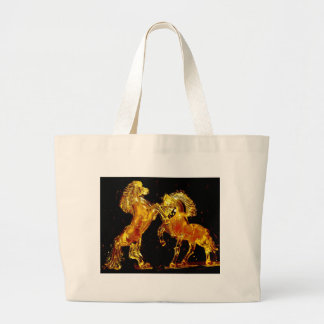 Glass Horses of Venice Italy Jumbo Tote Bag