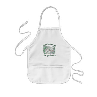 Glass Houses Are For Gardeners Kids' Apron