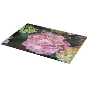 Glass Hydrangea Cutting Board