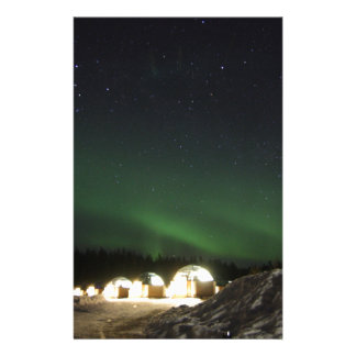 Glass Igloo under the Northern Lights Stationery