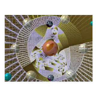 Glass in a mesh photo postcard