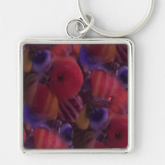 Glass inclusions number 1 keychain