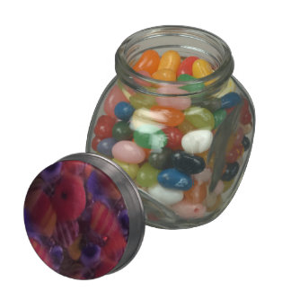 Glass inclusions number 2 glass candy jar