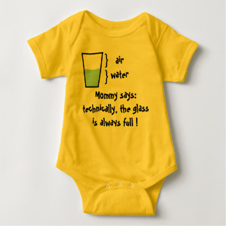 glass is always full baby bodysuit