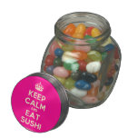 [Crown] keep calm and eat sushi  Glass Jars