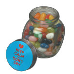[Broken heart] keep calm and don't cry  Glass Jars