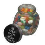 [Crown] keep calm and read no entry  Glass Jars