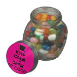 [Cup] keep calm and drink hot cocoa  Glass Jars