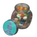 [Cupcake] keep calm and love cupcakes  Glass Jars