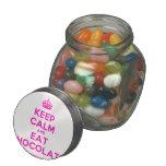 [Crown] keep calm and eat chocolate  Glass Jars