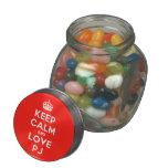 [Crown] keep calm and love pj  Glass Jars