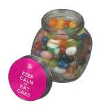 [Cupcake] keep calm and eat cake  Glass Jars