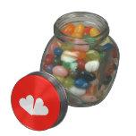 [Two hearts]  Glass Jars