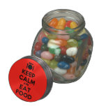 [Cutlery and plate] keep calm and eat food  Glass Jars
