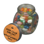 [Crown] keep calm and eat at wrapworks deli  Glass Jars