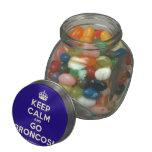 [Crown] keep calm and go broncos!  Glass Jars