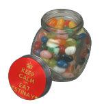 [Crown] keep calm and eat destinay♥  Glass Jars