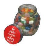 [Crown] keep calm and make lovr  Glass Jars