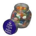 [Knitting crown] keep calm and swim naked  Glass Jars