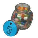 [Love heart] keep calm and love cma  Glass Jars