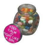 keep calm and fight like a girl  Glass Jars