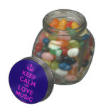 [Dancing crown] keep calm and love music  Glass Jars