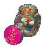 [Crown] keep calm and love shareya  Glass Jars